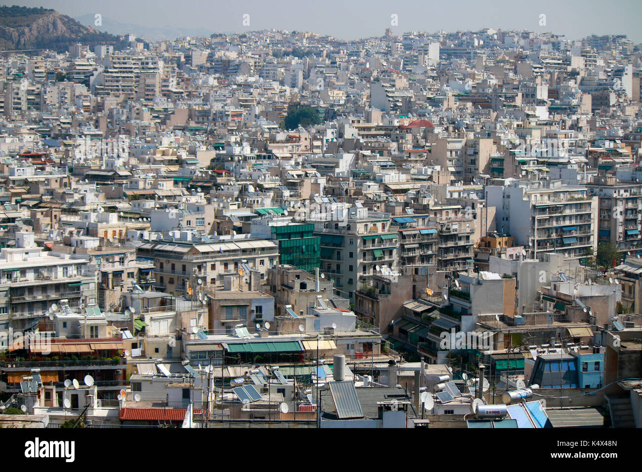 Skyline, Athen, Griechenland. Stock Photo