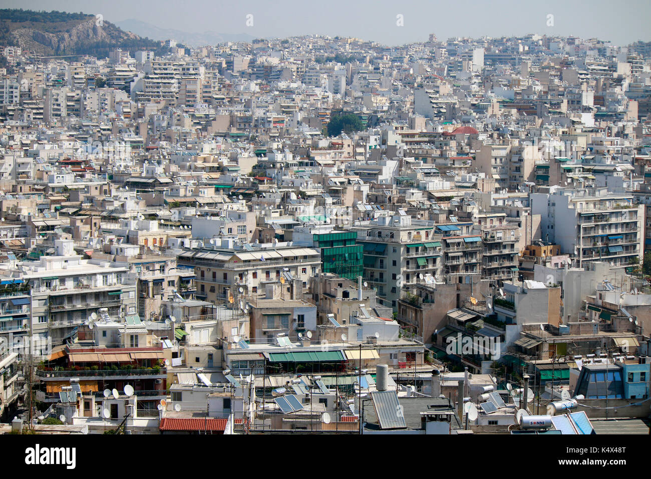 Skyline, Athen, Griechenland . Stock Photo