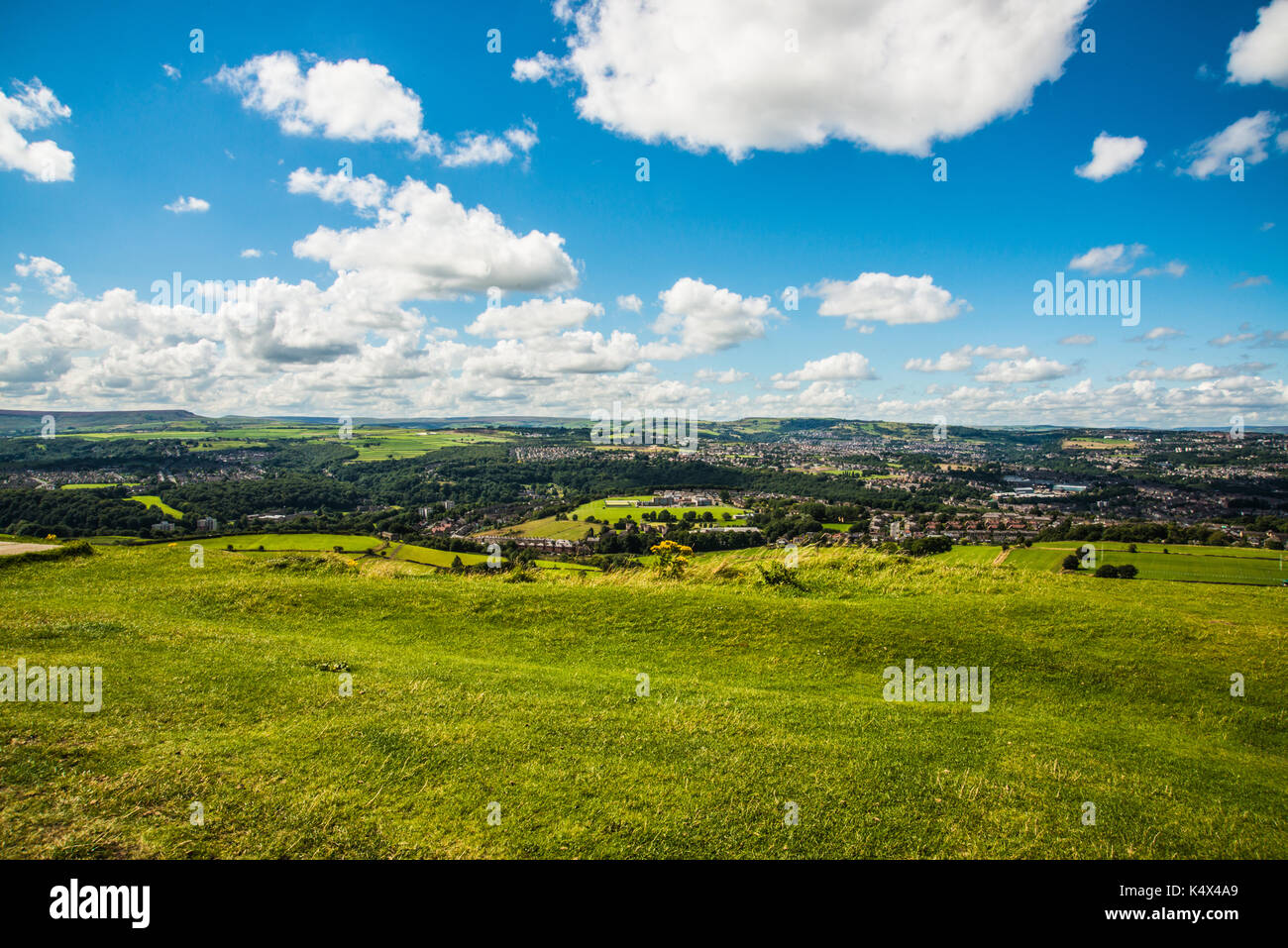 over the hills Huddersfield  Ray  Boswell - Stock Image