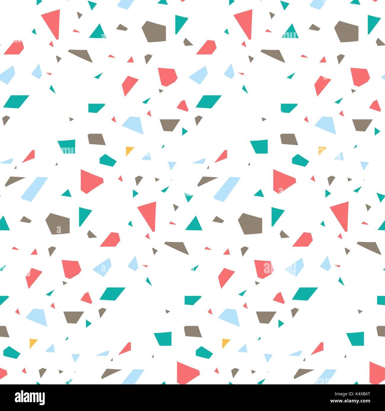 Terrazzo Flooring Seamless Vector Pattern Stock Vector Art