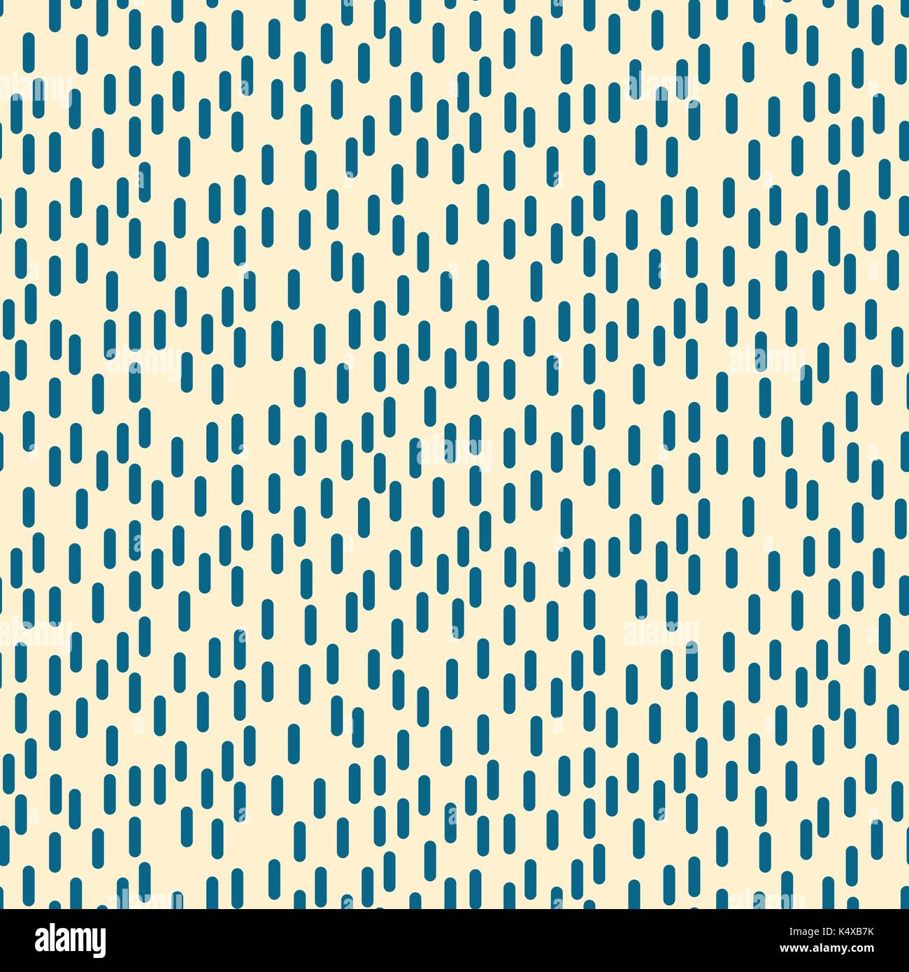 Small rectangle rain particles seamless vector pattern. - Stock Image