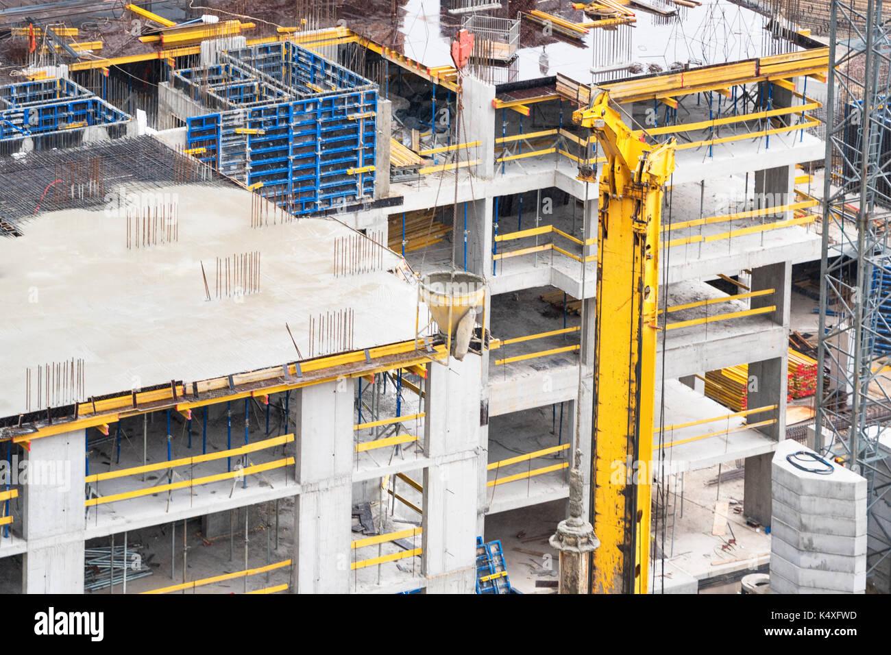 Concrete foundation stock photos concrete foundation for New construction basement