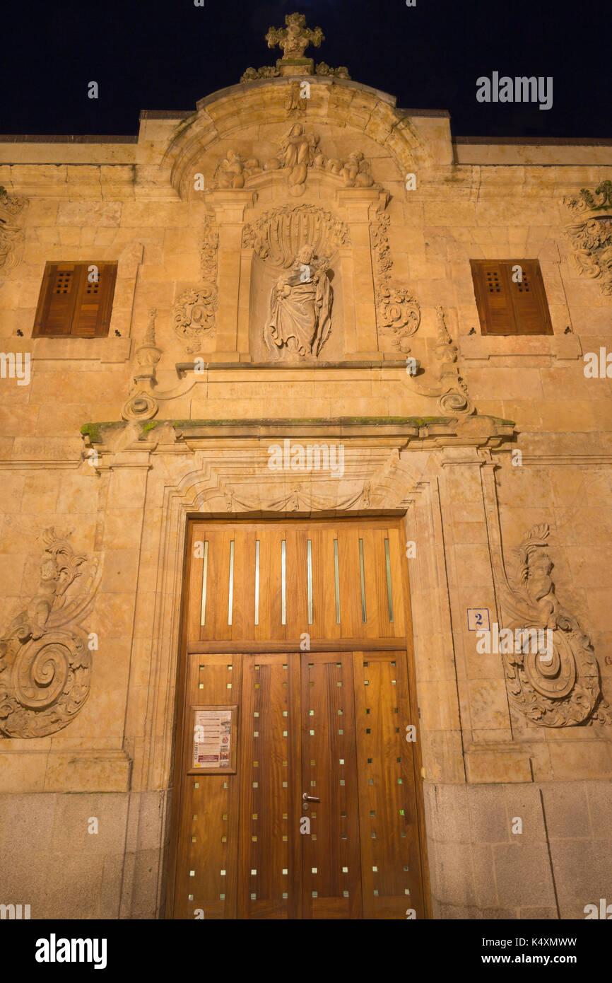 SALAMANCA, SPAIN, APRIL - 17, 2016:  The baroque portal of building Centro documental de la memoria historica. - Stock Image