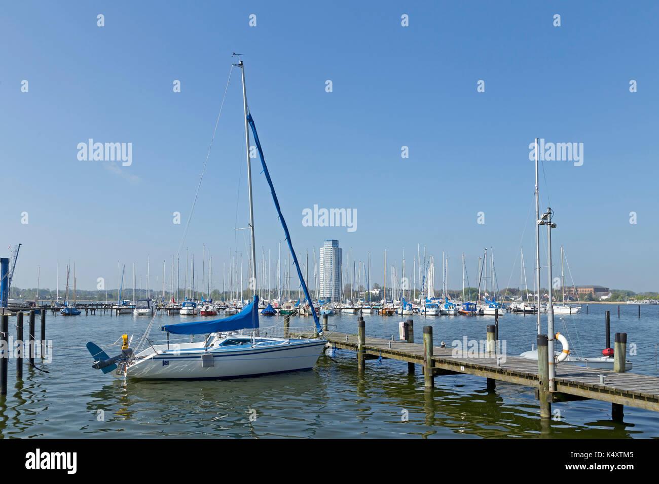 Marina, Schleswig, Schlei, Schleswig-Holstein, Germany - Stock Image