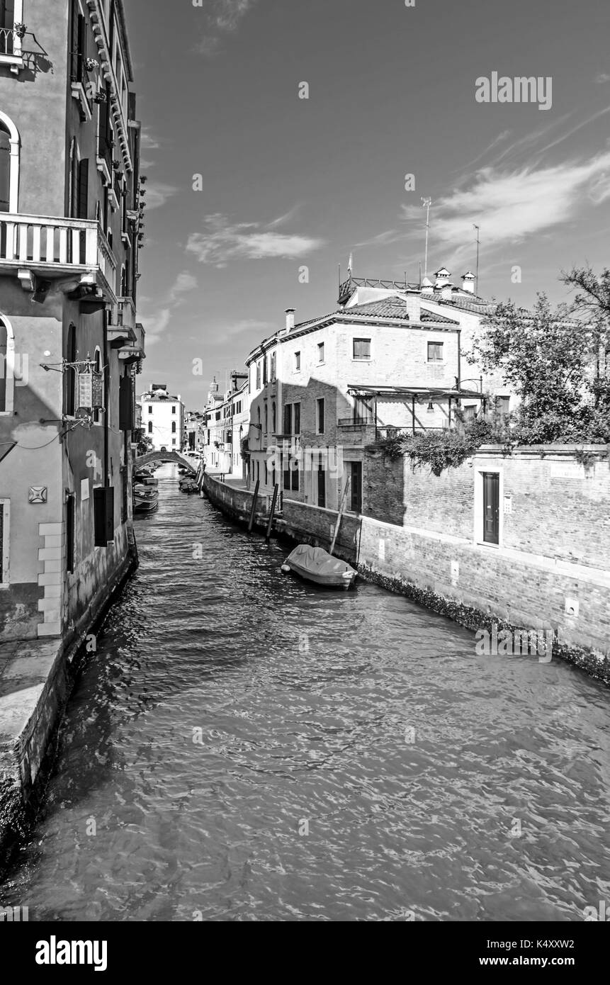 venice, italy, canal, travel, grand, water, europe, architecture, gondola, city, landmark, venetian, santa, italian, famous, european, boat, maria, ci - Stock Image