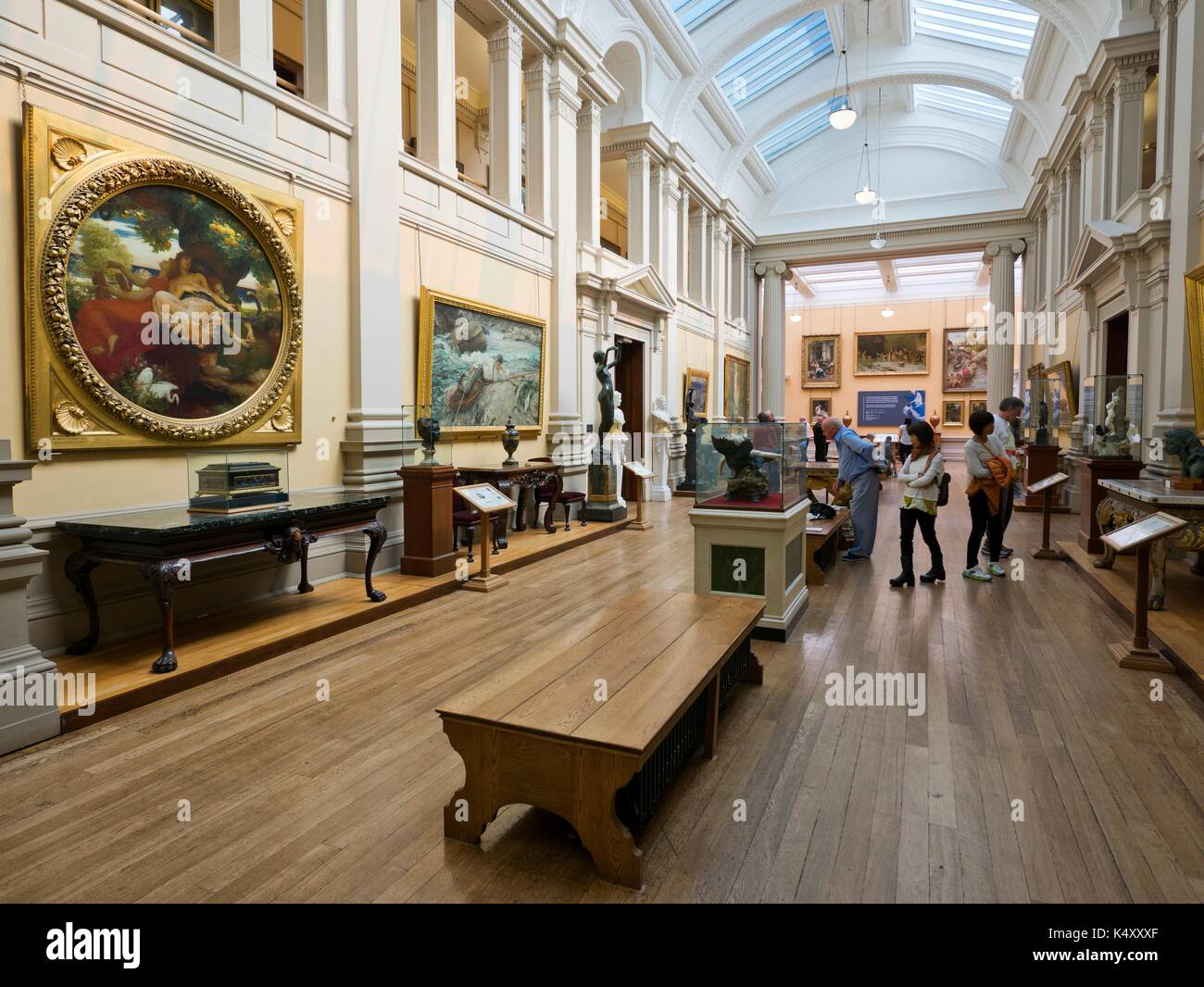 The Main Hall at the Lady Lever Art Gallery, Port Sunlight, Merseyside. - Stock Image