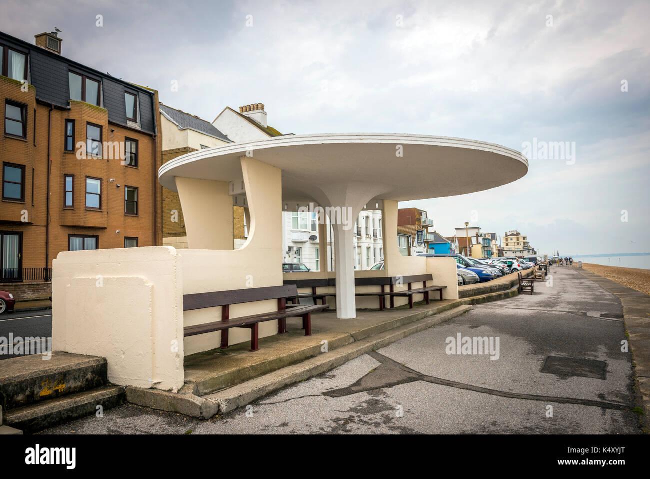 Interesting shelter on Deal Seafront, Kent, UK - Stock Image