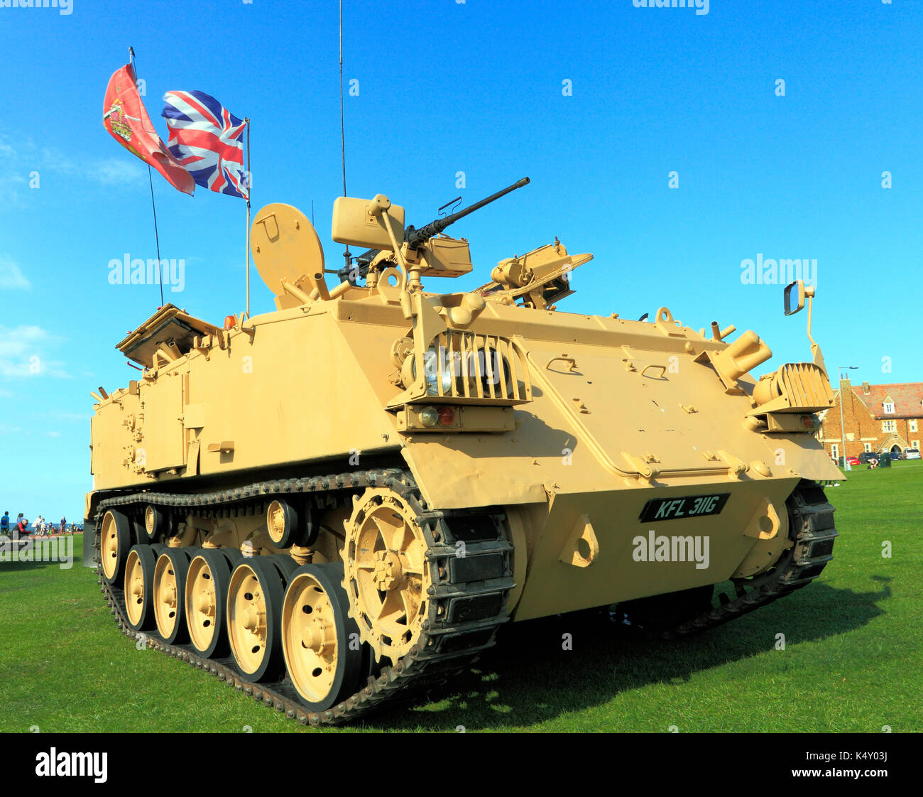 British Army 432 Tank, deployed in 1st Iraq War, military, vehicle, vehicles, England, UK armoured personel carrier - Stock Image