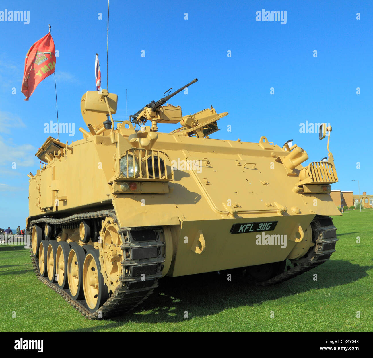 British Army 432 Tank, deployed in 1st Iraq War, military vehicle, vehicles, England, UK armoured personell personel carrier - Stock Image