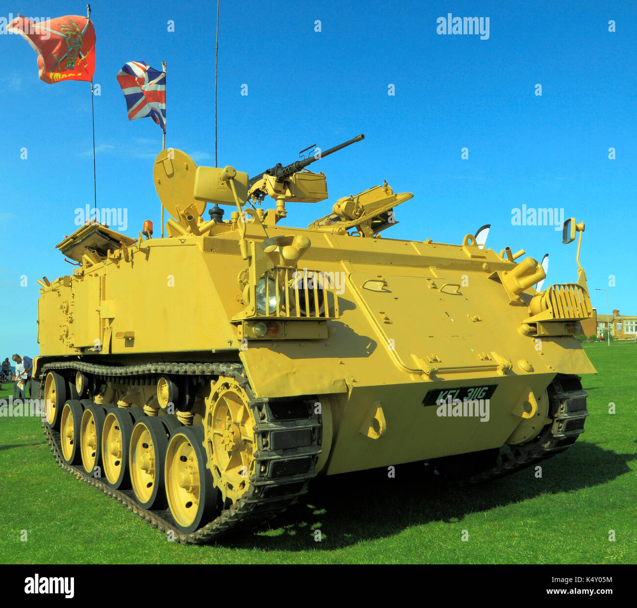 British Army 432 Tank, deployed in 1st Iraq War, military, vehicle, vehicles, tanks, England, UK - Stock Image