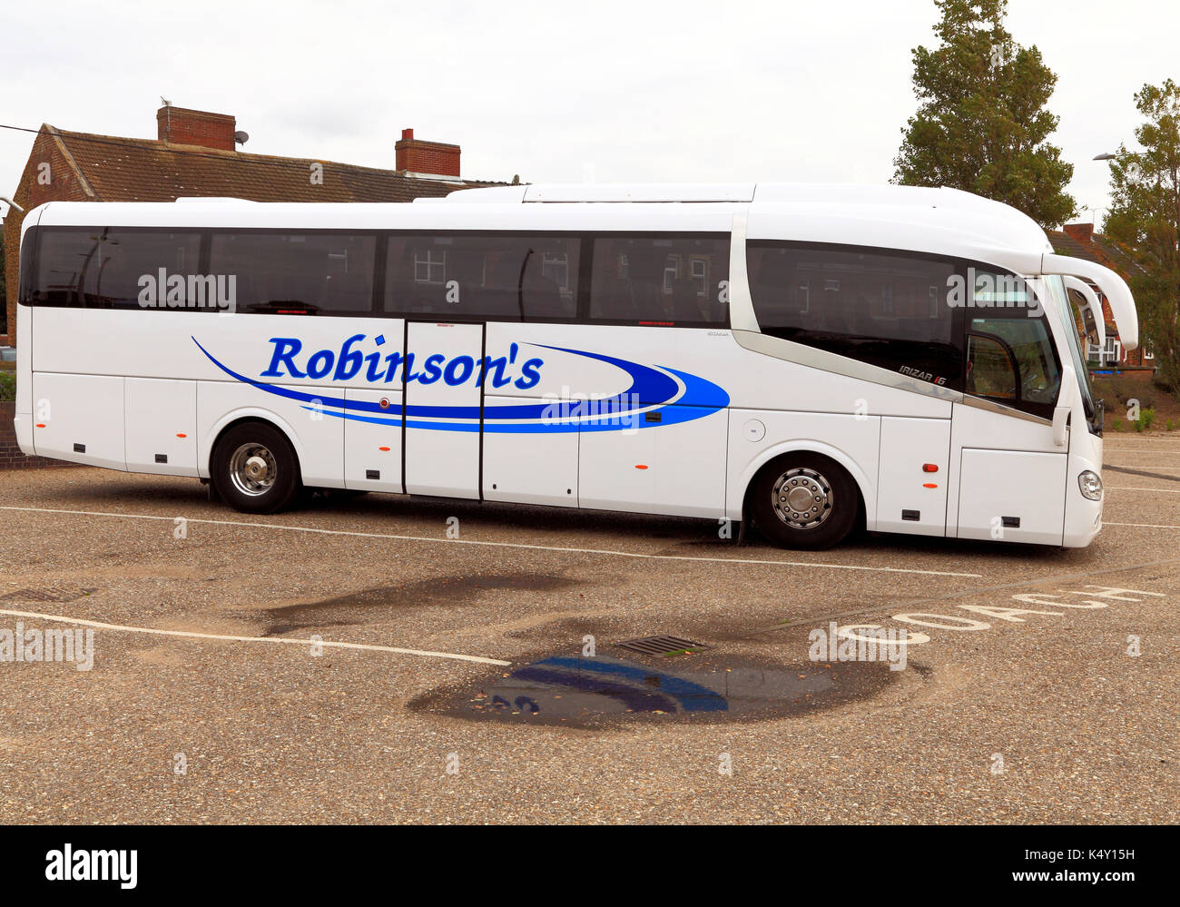 Robinson's coaches, coach, day trips, trip, excursion, excursions, travel company, companies, holiday, holidays, transport, England, UK - Stock Image