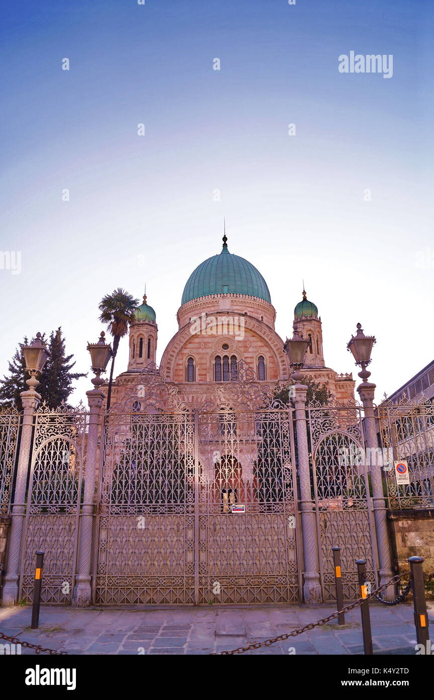 Great Synagogue of Florence, Italy Stock Photo
