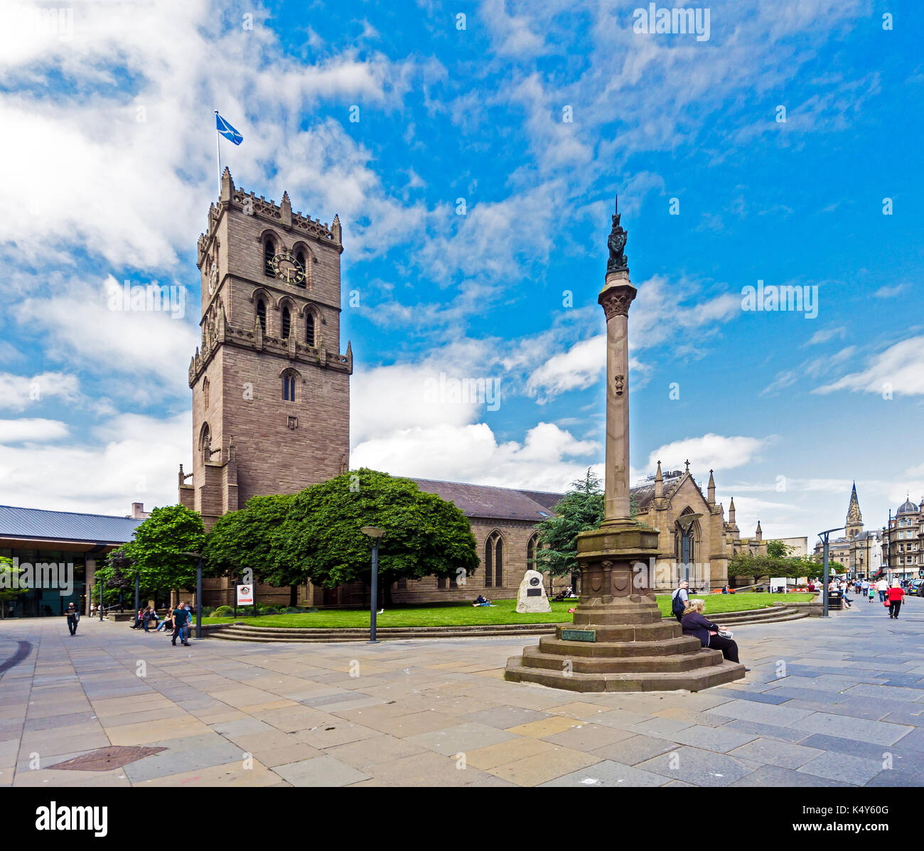 The Steeple Church in Nethergate Dundee Tayside Scotland UK - Stock Image