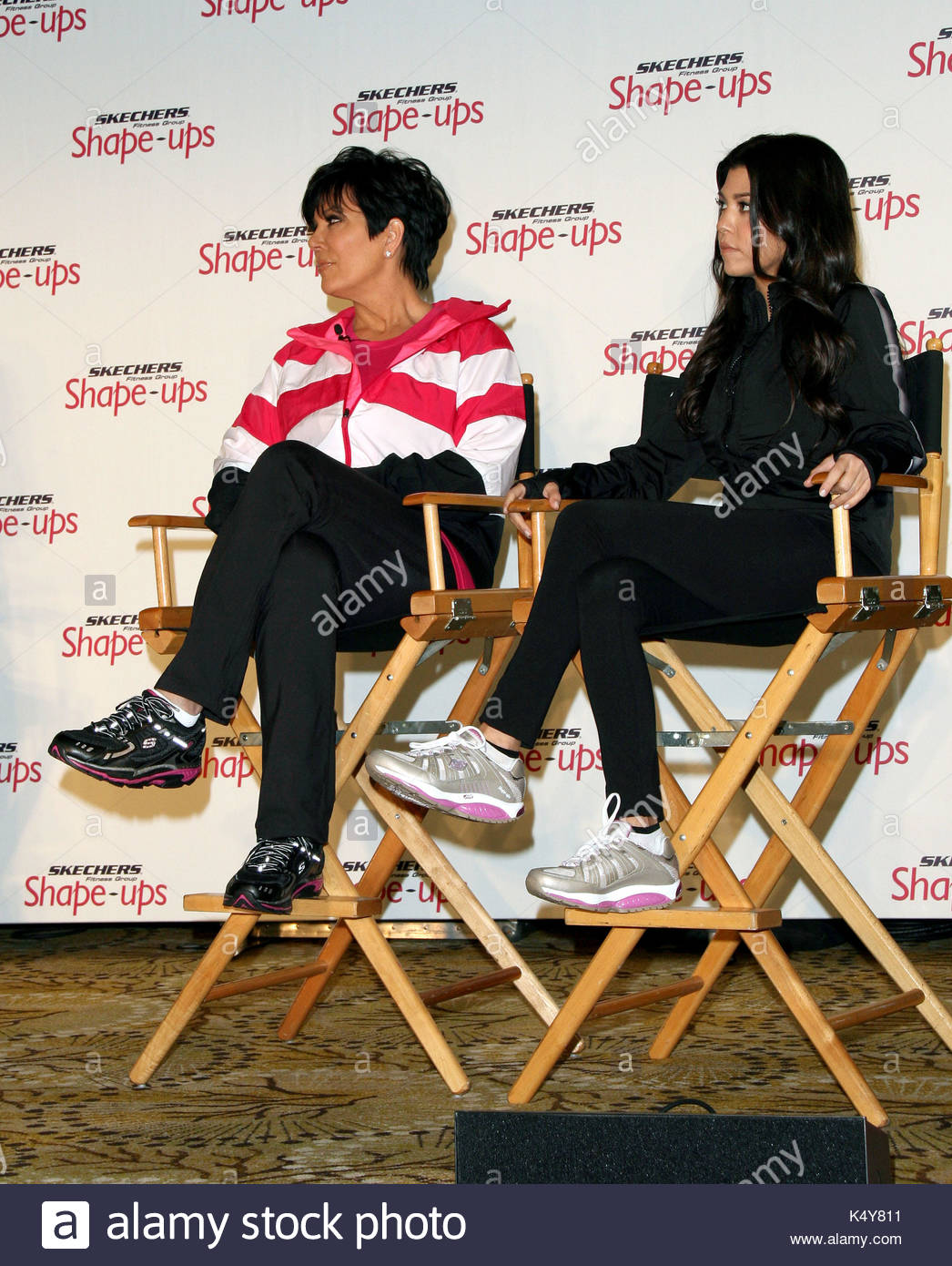 0216ad2904190 Kim Kardashian and Kris Jenner announce marketing partnership with Skechers  Shape-ups at a Press Conference at the Regent Beverly Wilshire Hotel in Los  ...