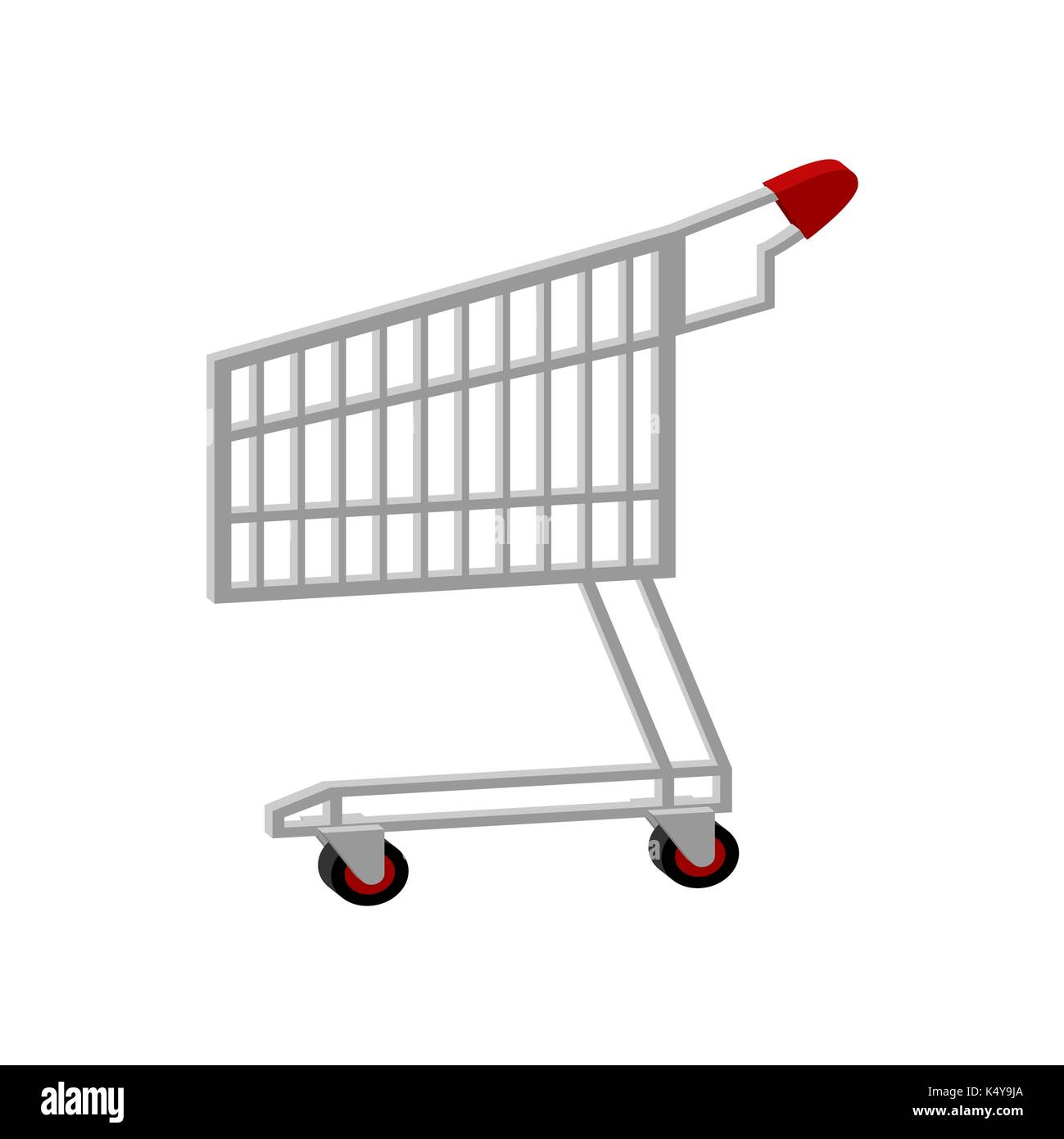 shopping cart isolated. Supermarket trolley sign icon. Vector illustration - Stock Vector