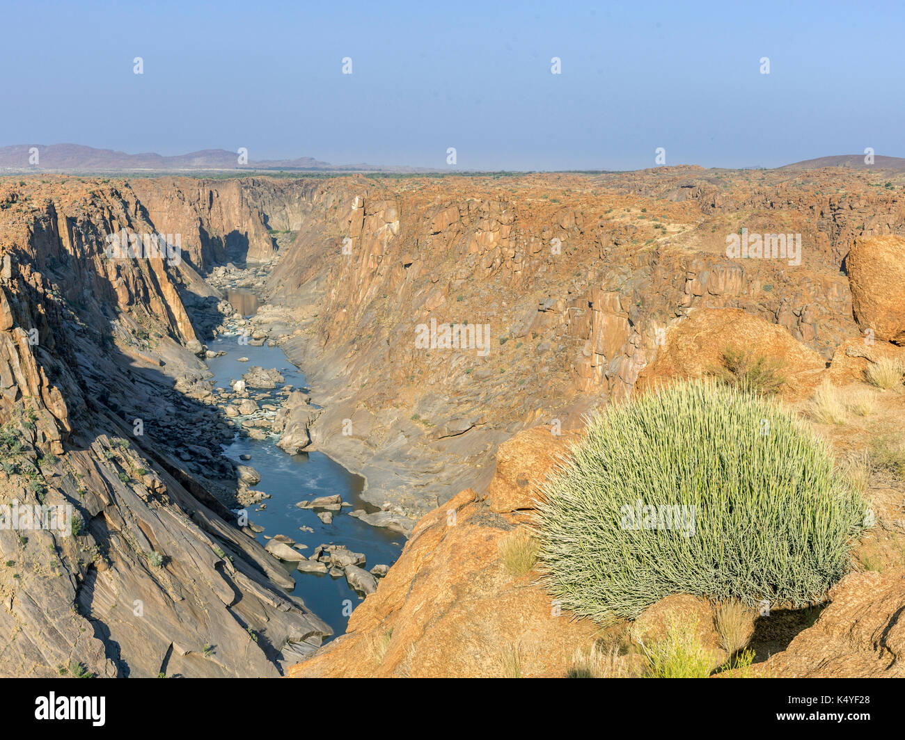 View of the canyon of the River Oranje from Ararat Viewpoint, Augrabies Falls NP, North Cape, South Africa - Stock Image