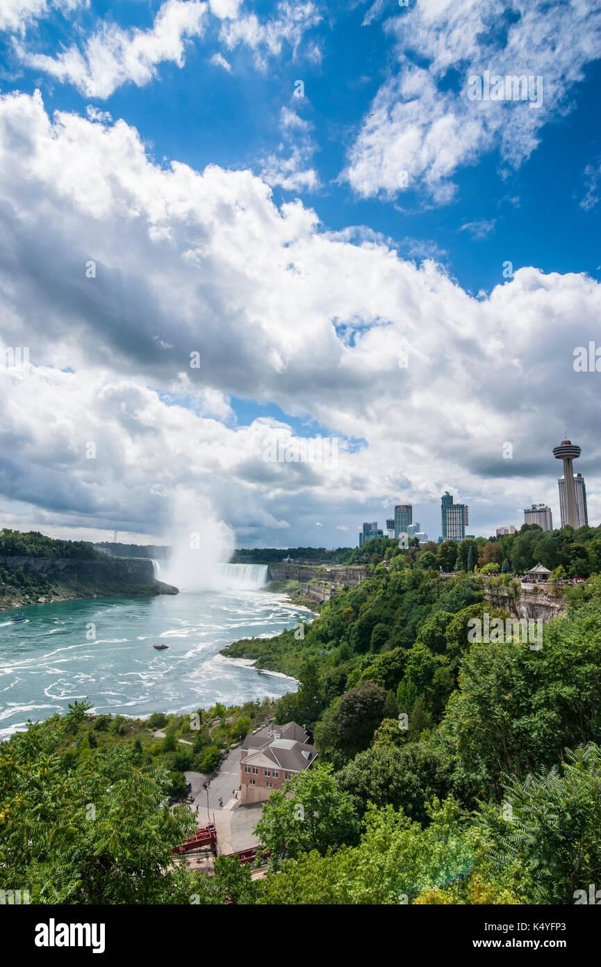 Overview over the Niagara Falls, Ontario, Canada - Stock Image