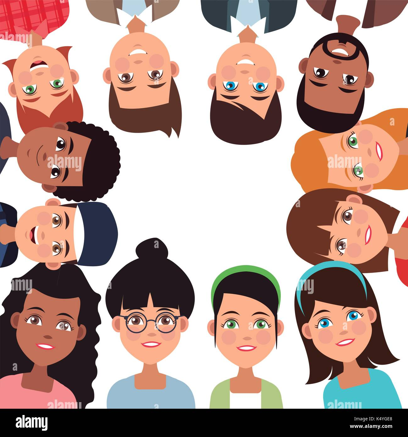 Friendship cartoon design - Stock Image