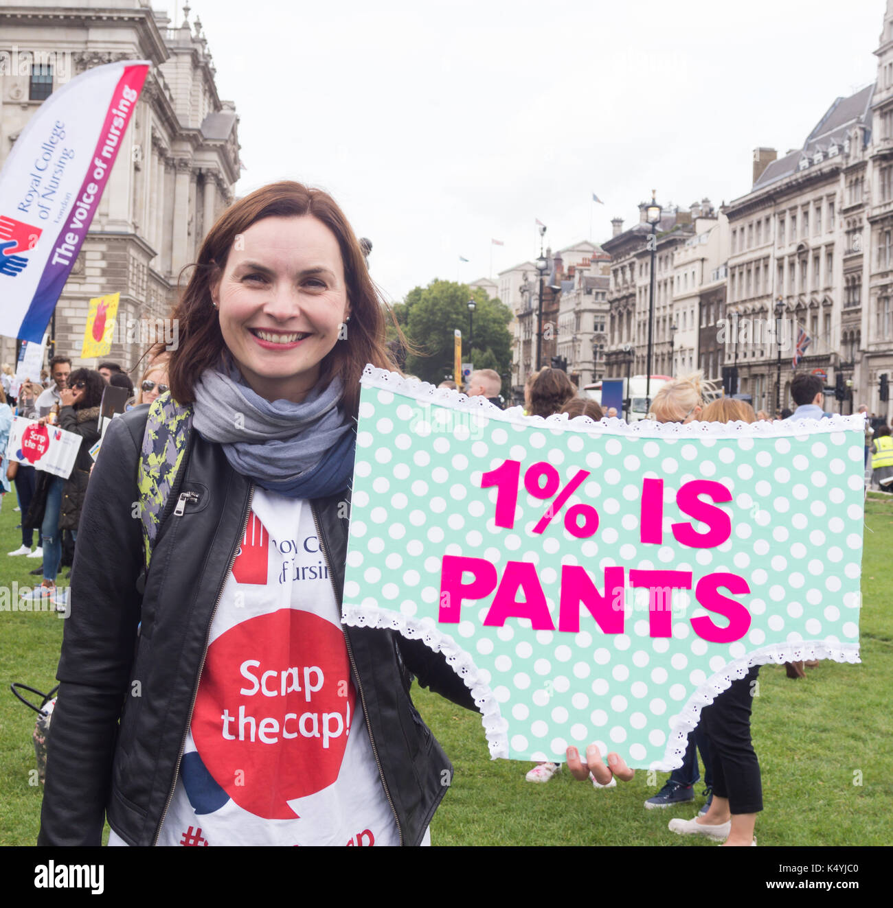 London, UK. 6th Sep, 2017. Thousands of nurses, members of the public and other healthcare workers from all over - Stock Image