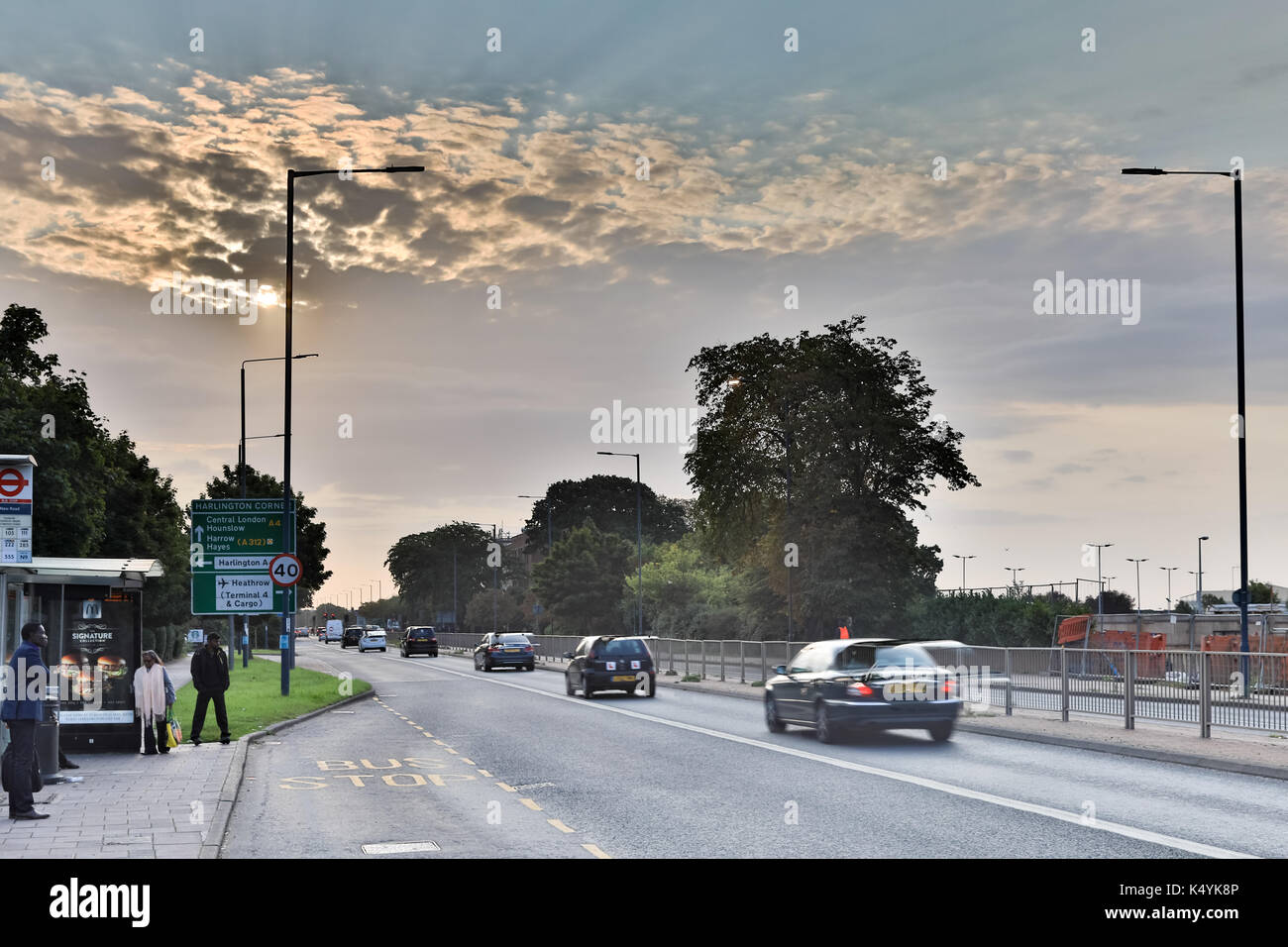 Heathrow Airport Uxbridge London Uk Thursday7th Septemberl 2017 Uk Weathermorning At London Heathrow Airport Credit Wansfordp O Alamy Live