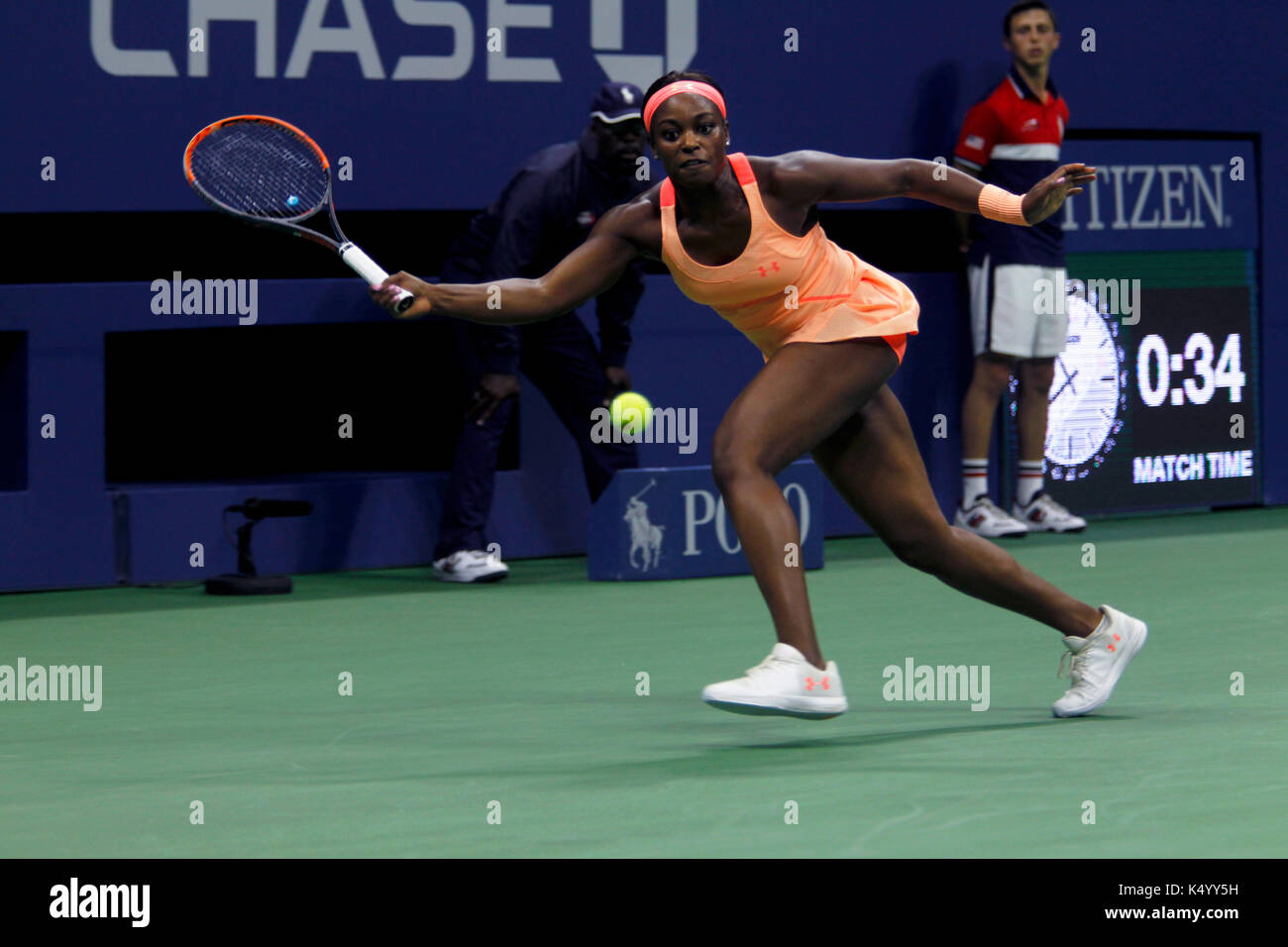 New York, United States. 07th Sep, 2017. US Open Tennis: New York, 7 September, 2017 - Sloane Stephens of the United - Stock Image