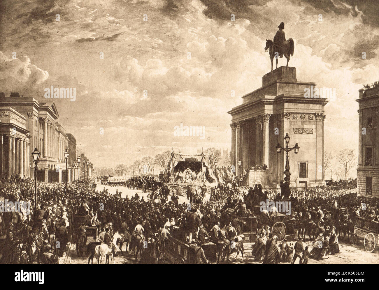 Duke of Wellington State Funeral 1852 - Stock Image