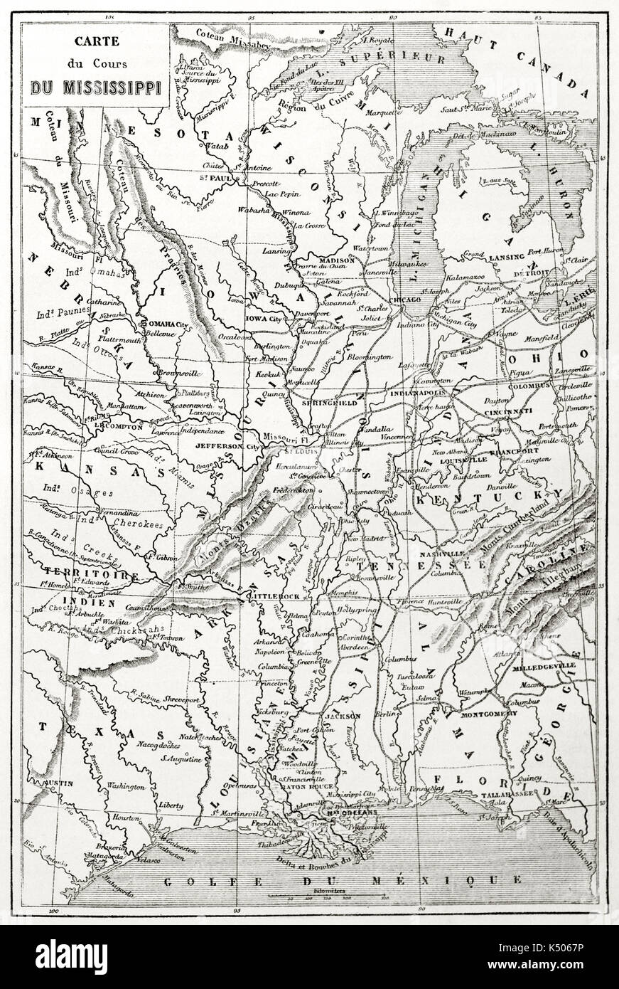 Topographic Map Mississippi.Old Topographic Map Of Mississippi River Course Created By Erhard