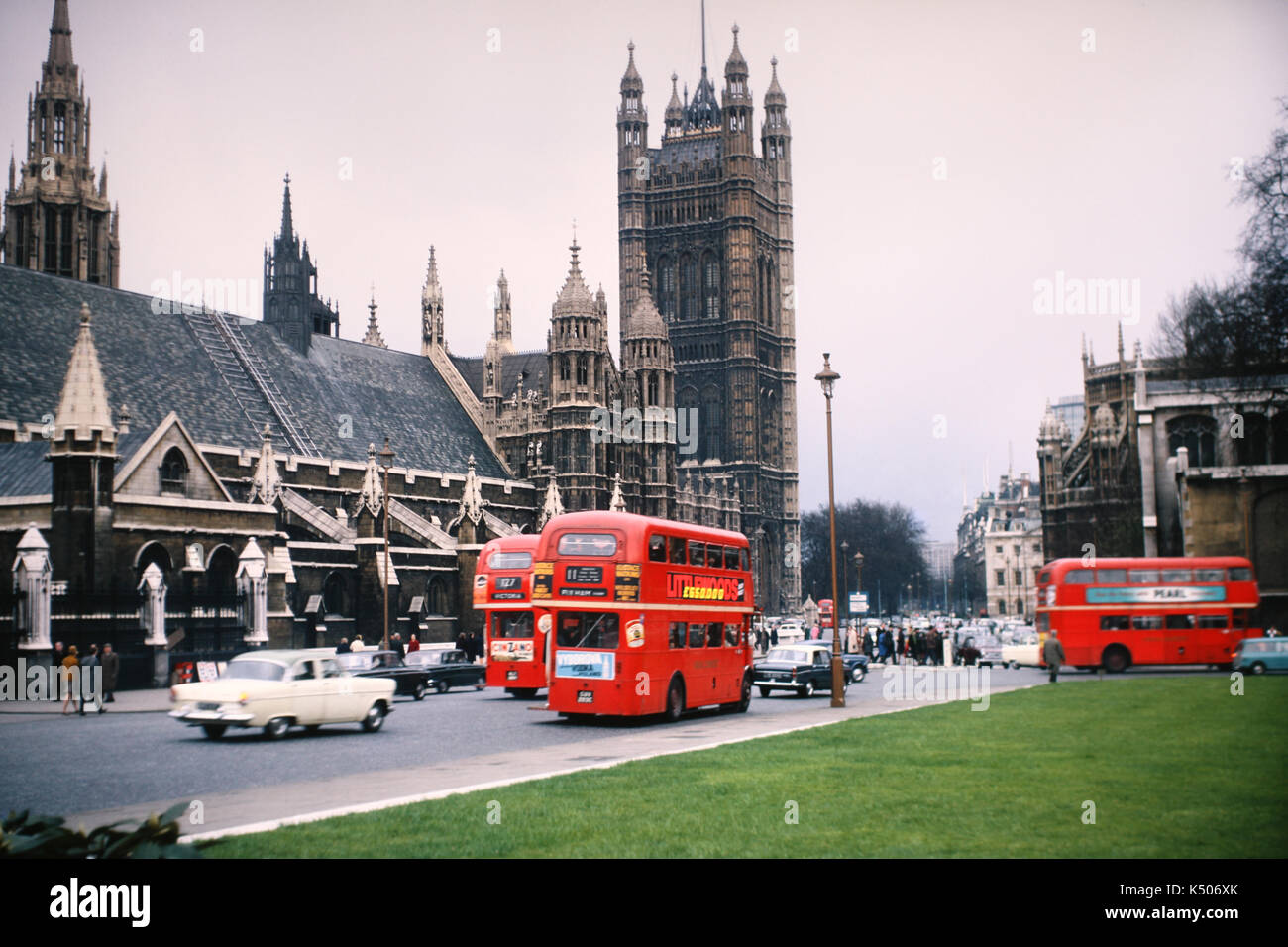 Vintage photo from 1967 of the Palace of Westminster - Stock Image