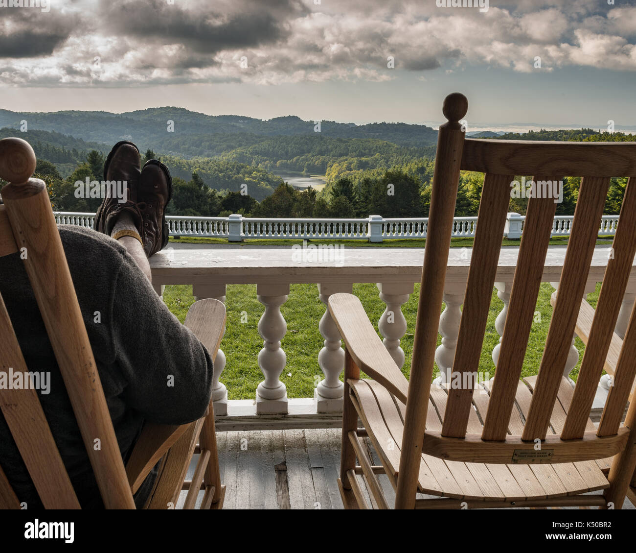 Wondrous Feet Up Relaxing Rocking Chair Front Porch Amazing View Gmtry Best Dining Table And Chair Ideas Images Gmtryco
