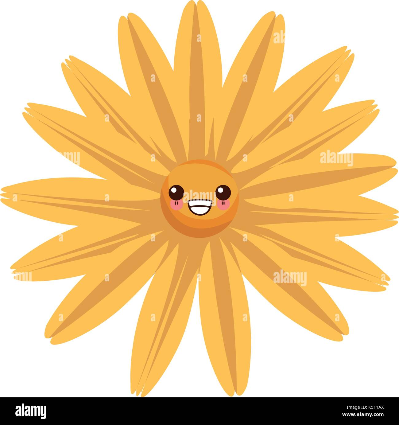 Beautiful flower kawaii cartoon stock vector art illustration beautiful flower kawaii cartoon izmirmasajfo