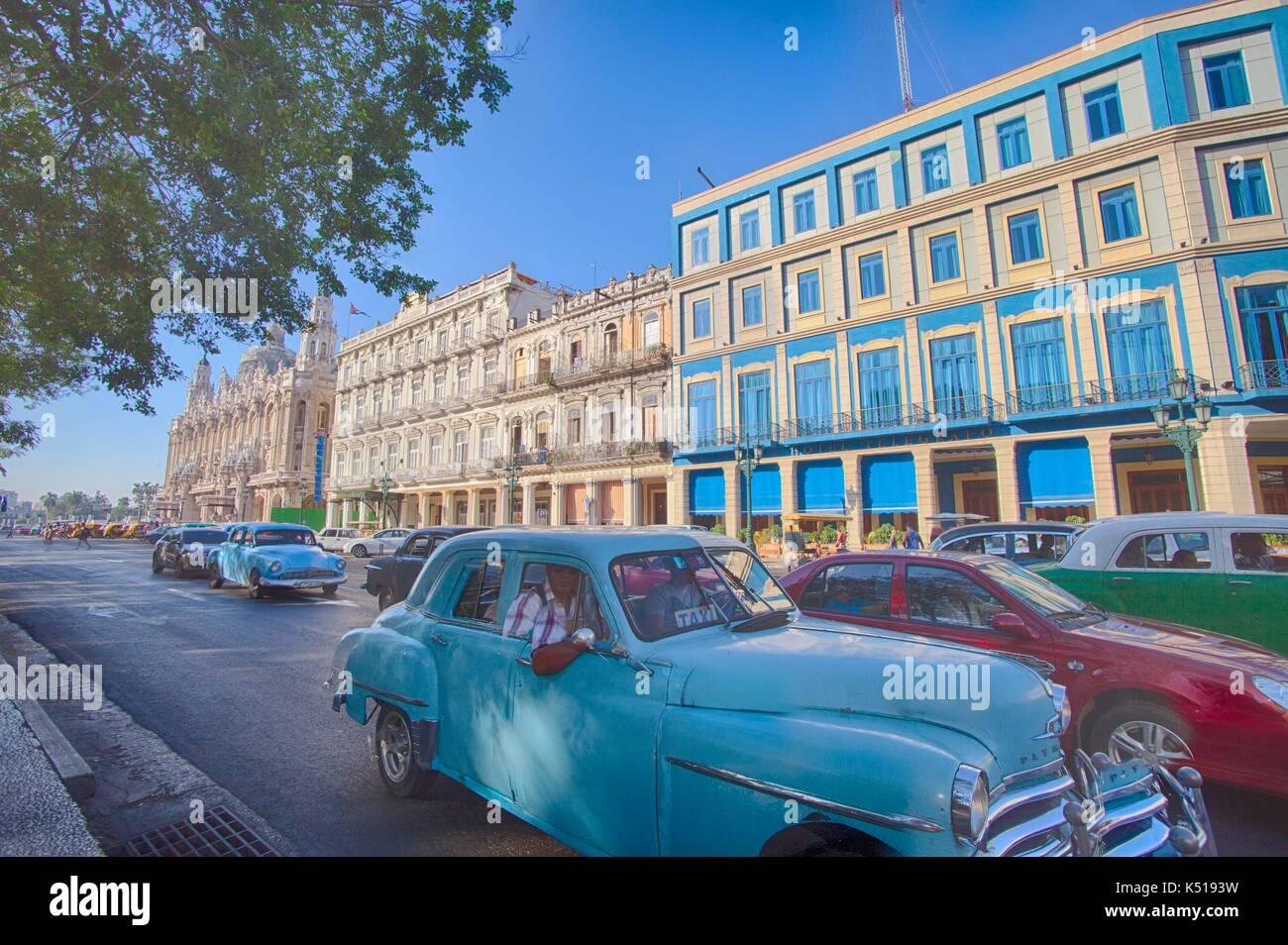 Old car, Havana, Cuba - Stock Image