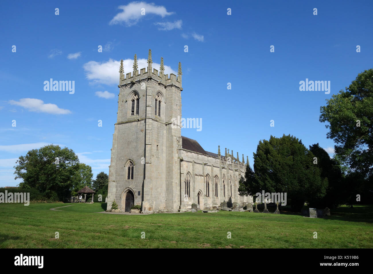Battlefield Church built on the site of the Battle of Shrewsbury in 1403. St Mary Magdalene's Church is a redundant Anglican church in the village of  - Stock Image