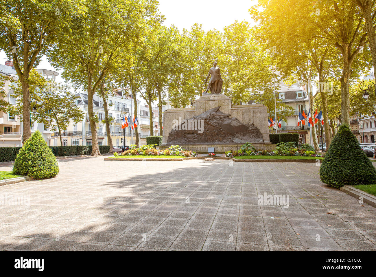 Monument in Vichy, France - Stock Image