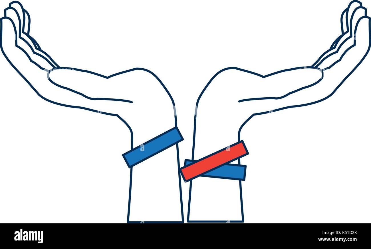 Two Hands Support Help Gesture Symbol Stock Vector Art