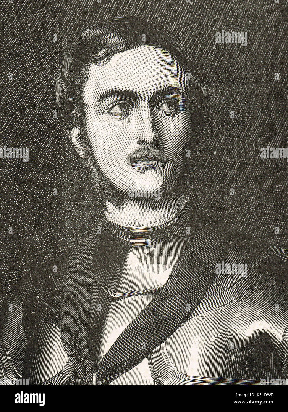 Prince Albert as a Knight in armour, 1844 - Stock Image