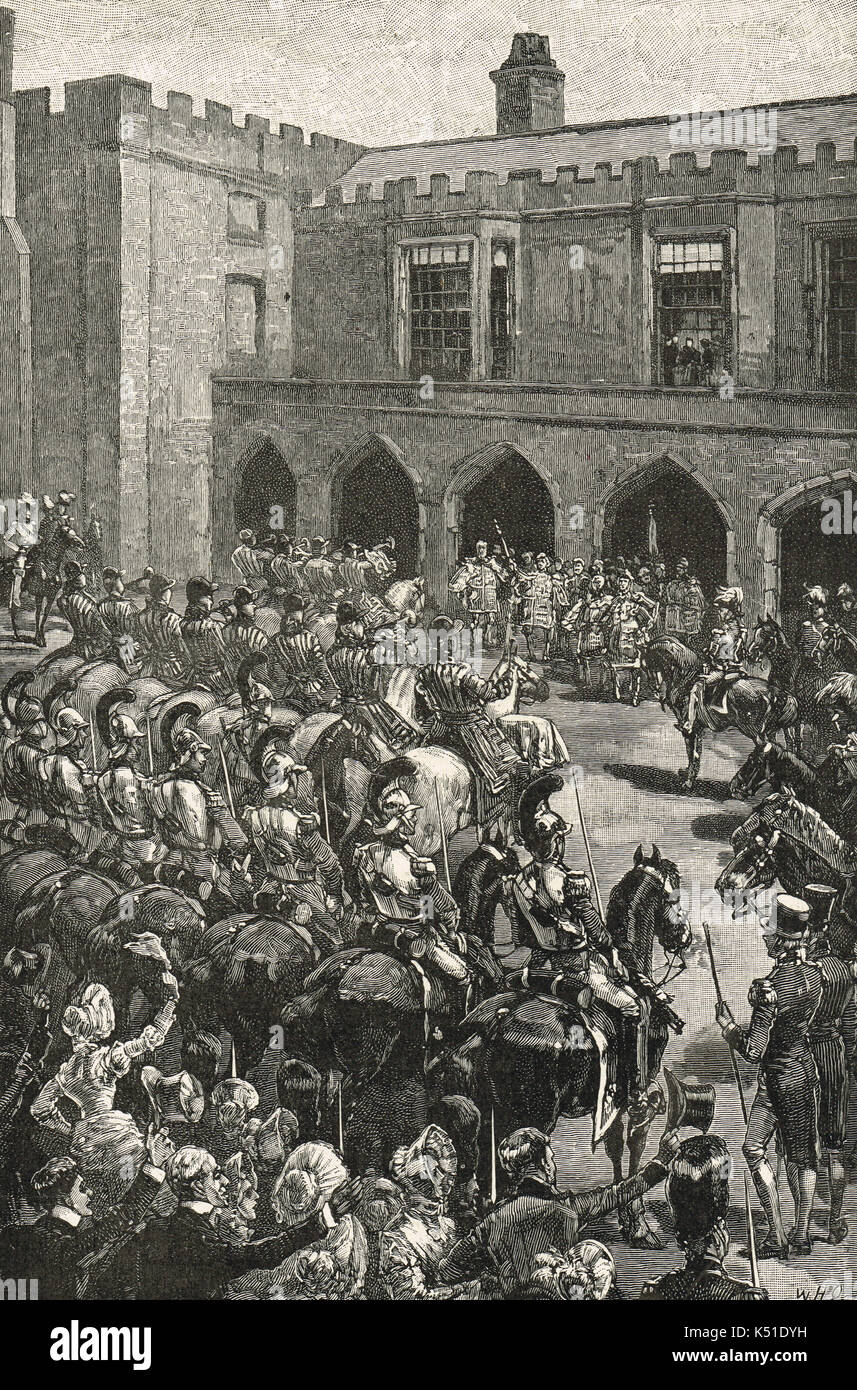 The proclamation of Queen Victoria at St James's Palace, 20 June 1837 - Stock Image