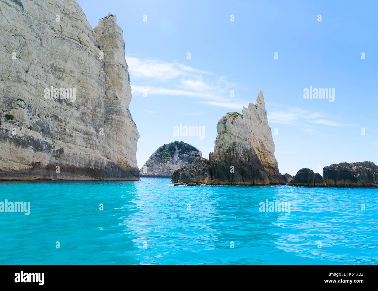 Beautiful lanscape of Zakinthos island Stock Photo