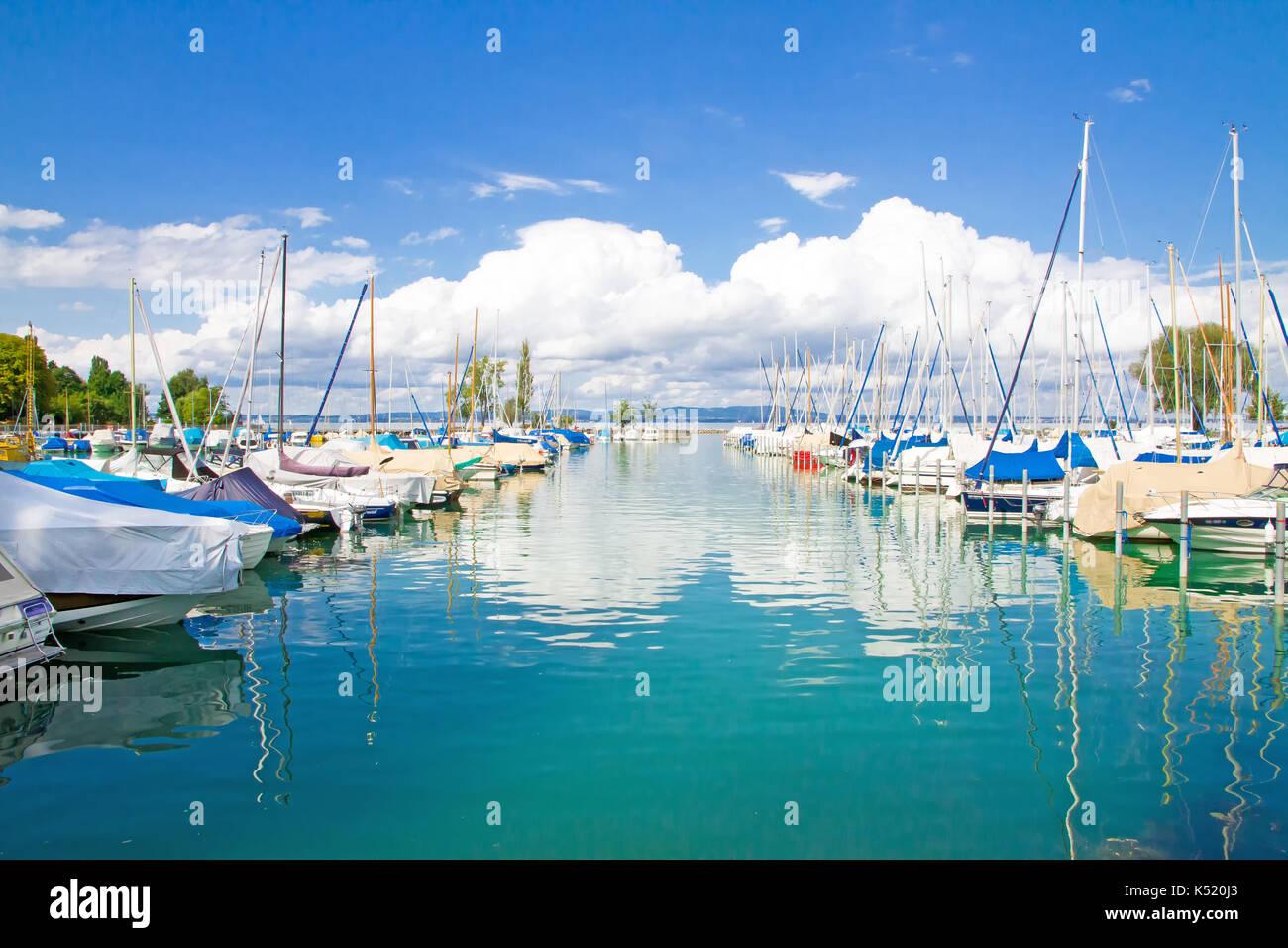 Lake Constance, Bodensee Romanshorn - Switzerland - Stock Image