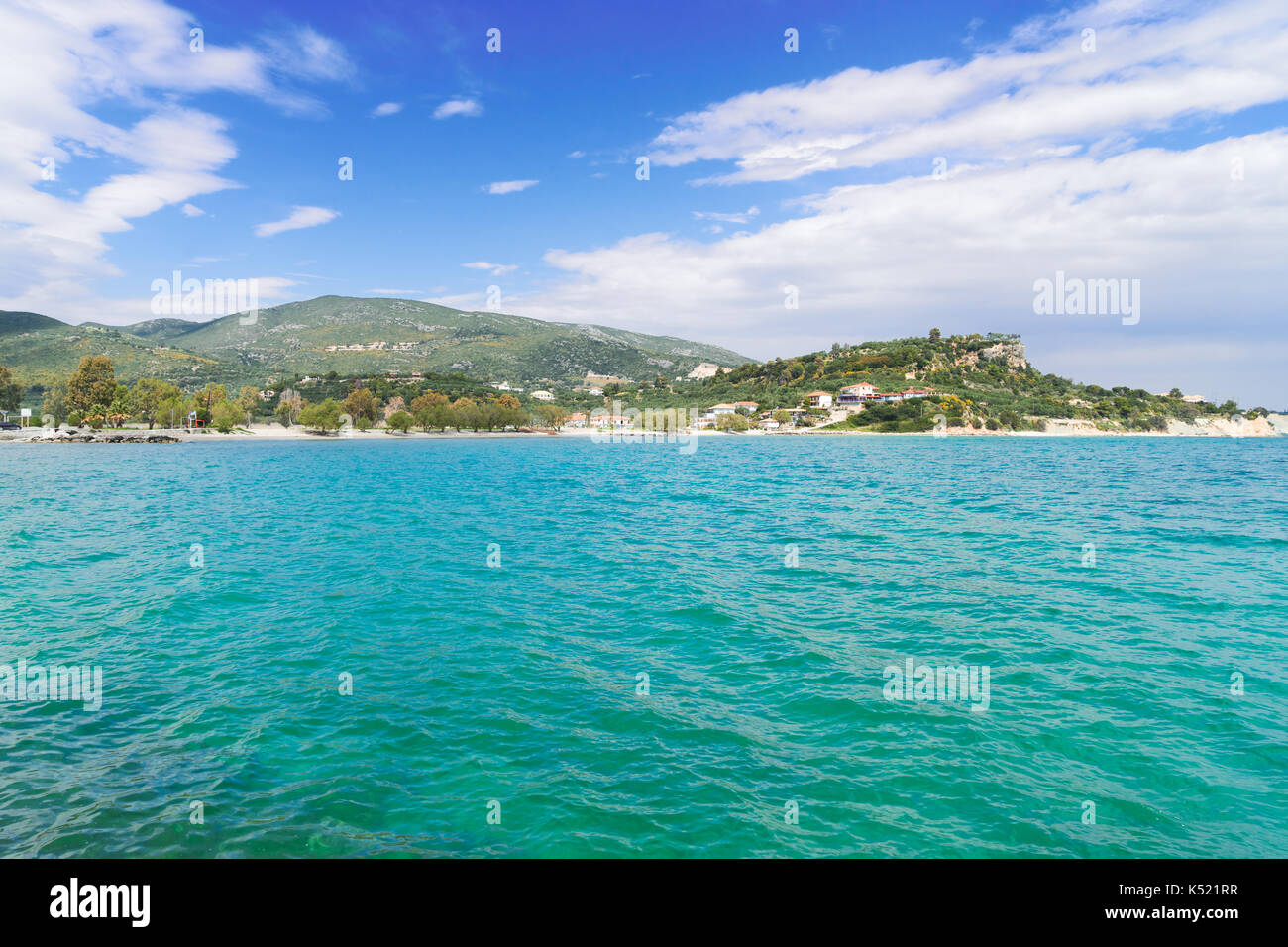 Beautiful lanscape of Zakinthos island Stock Photo