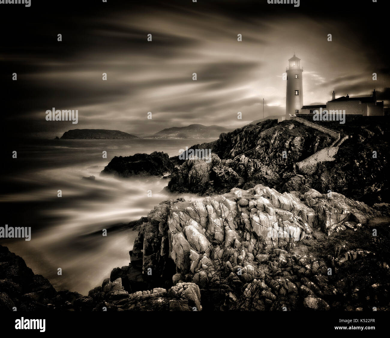 PHOTOGRAPHIC ART: Fanad Head Lighthouse Co. Donegal, Republic of Ireland - Stock Image