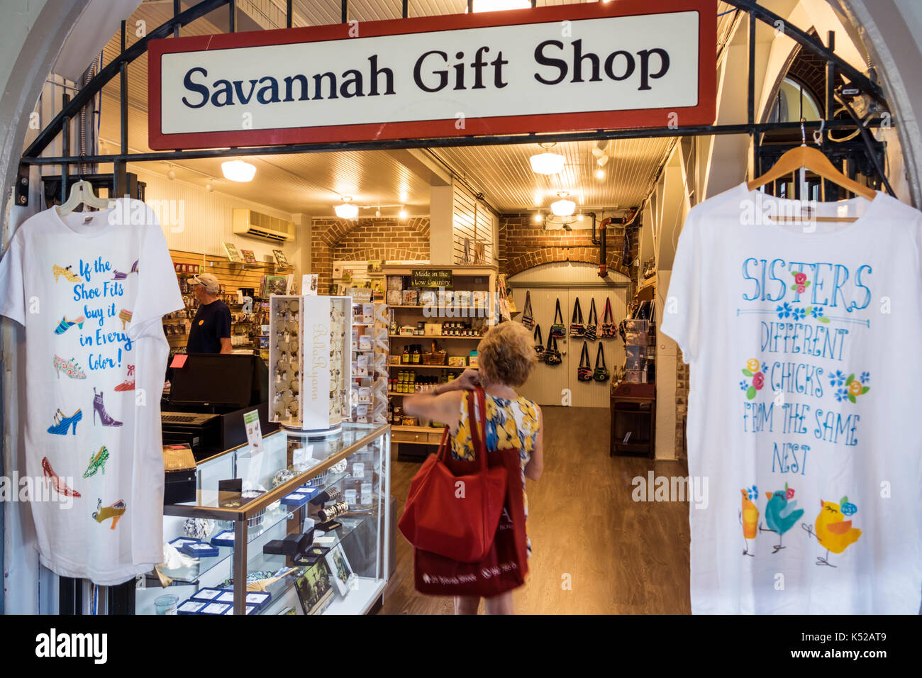 2fbbc9cce19d5 Savannah Georgia Visitors Information Center inside gift shop shopping tee  t-shirt
