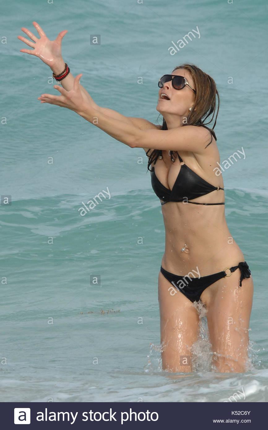 Maria Menounos Bikini Wardrobe Malfunction Stock Photos ... String Bikini Bottoms Malfunction