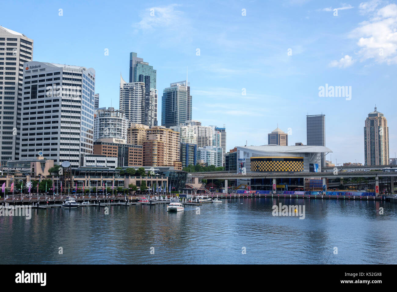 The Imax Theatre At Darling Harbour Sydney Australia Boasted The Biggest Movie Screen In The World November 2016 Prior To Redevelopment - Stock Image