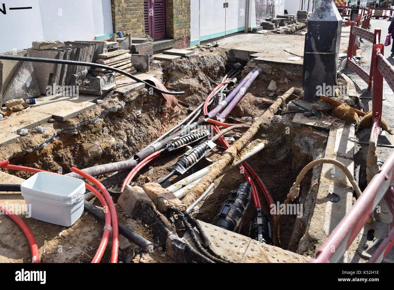 Underground wires Stock Photo: 158023866 - Alamy on