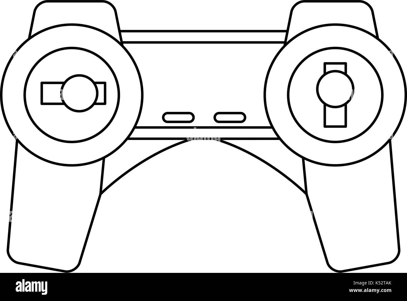 drone remote control transmitter technology device  Stock Vector