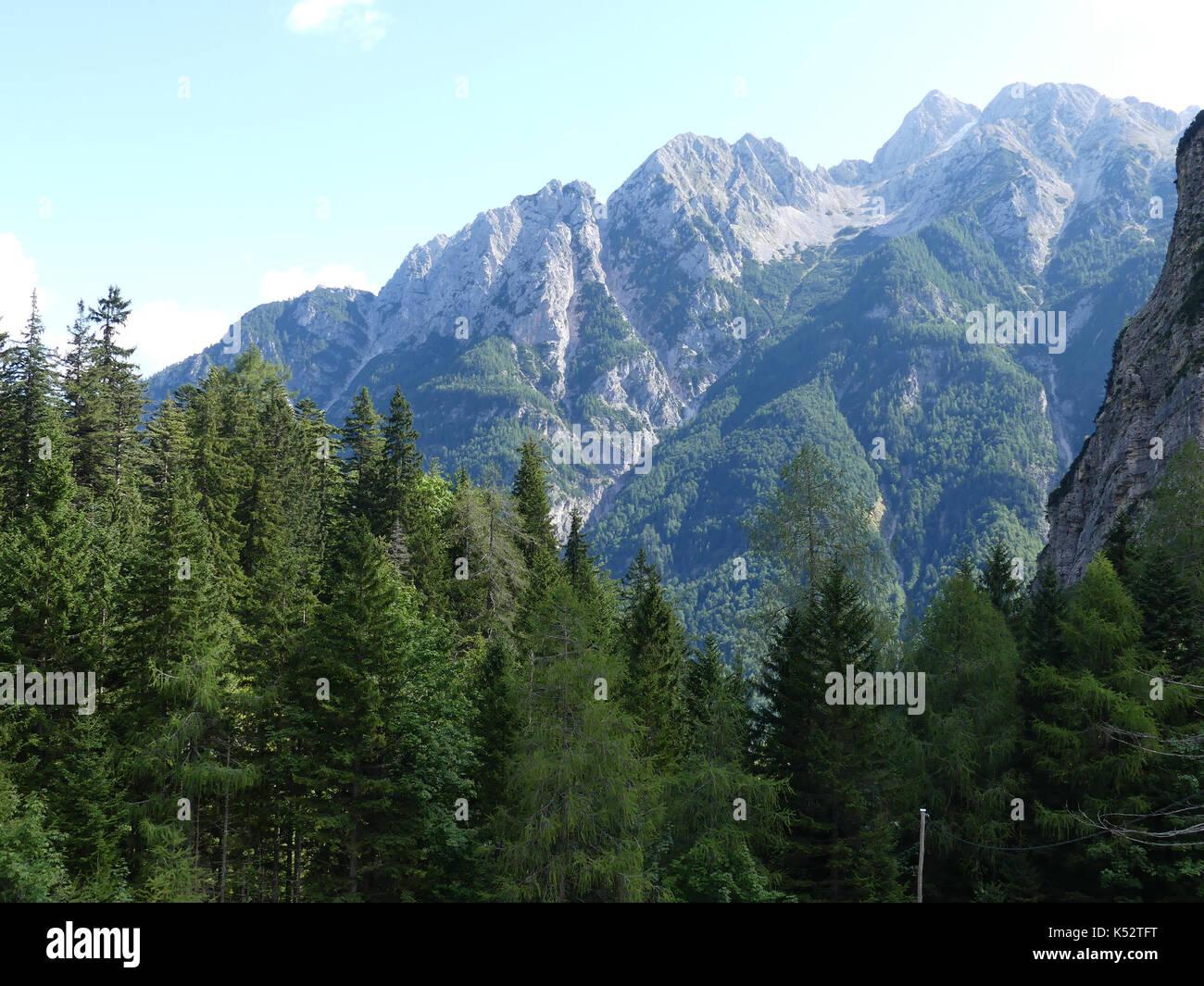 SLOVENIA  Section of the Julian Alps near Kobarid. Photo: Tony Gale - Stock Image