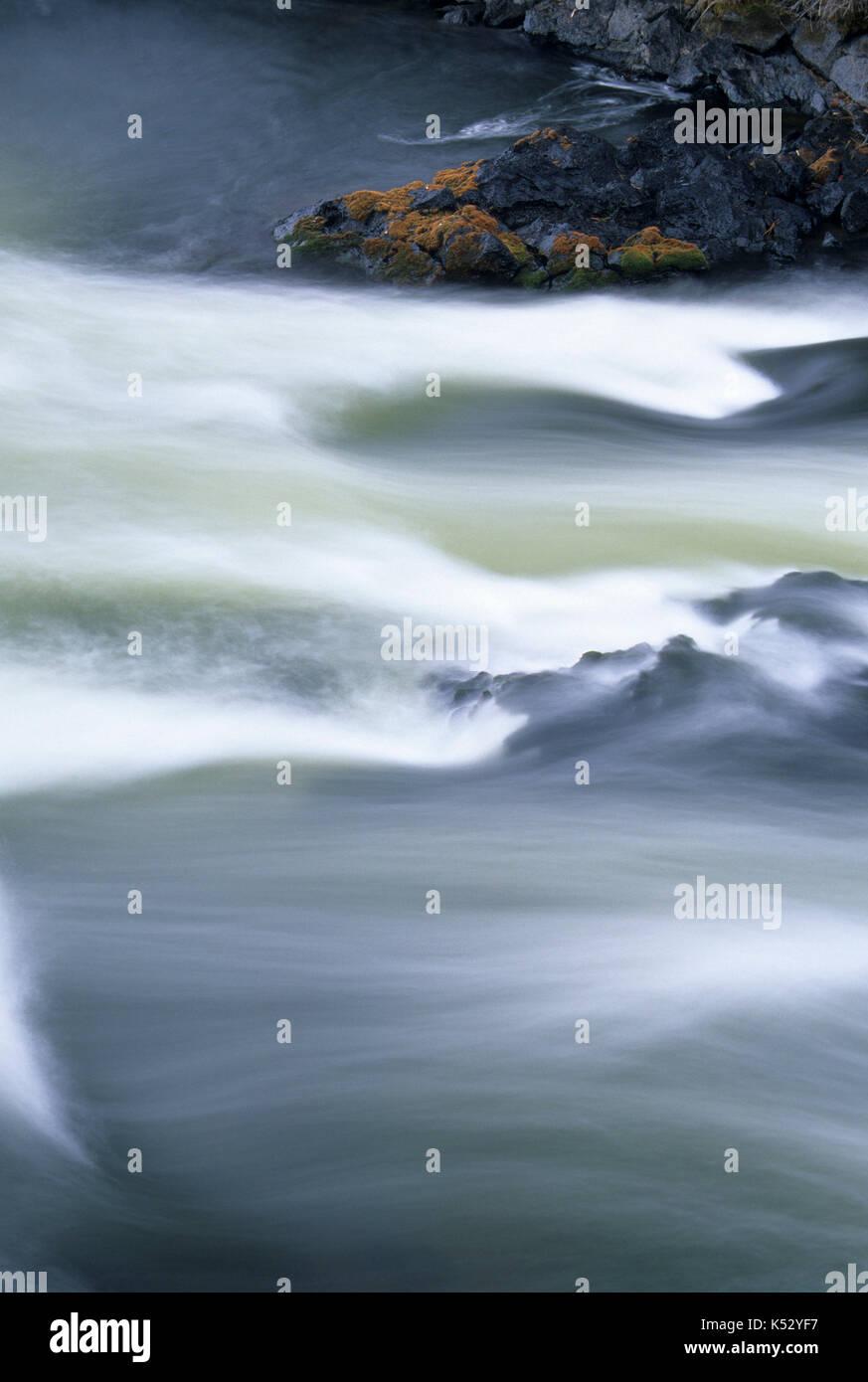Lava River Falls, Deschutes Wild & Scenic River, Newberry National Volcanic Monument, Oregon - Stock Image