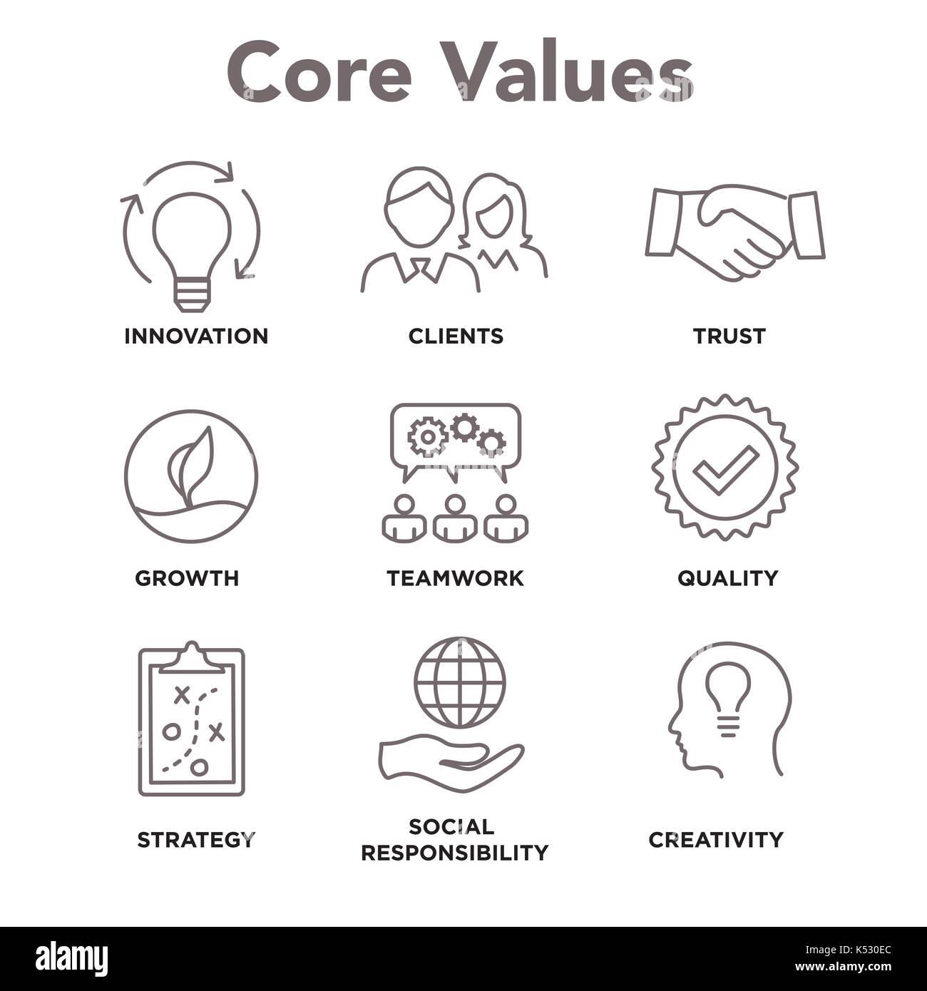 core values mission  integrity value icon set with handshake vector freepik handshake vector logo