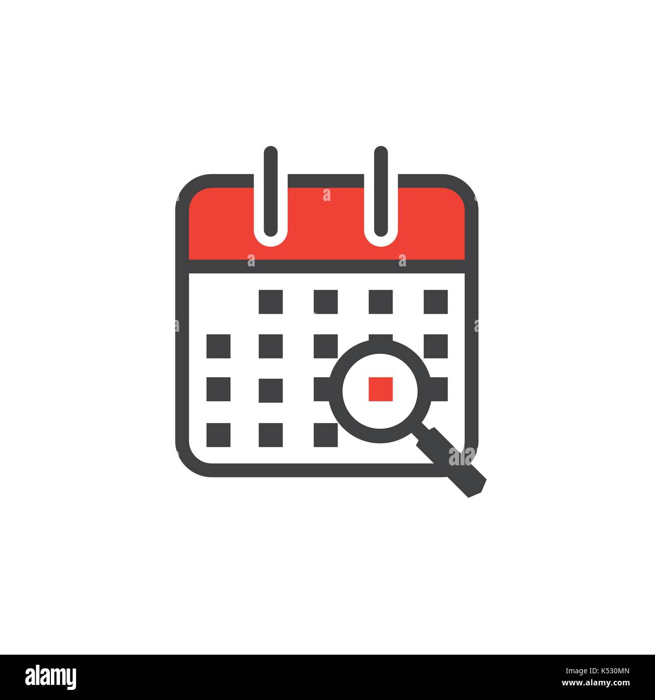 Calendar image with specific date Stock Vector