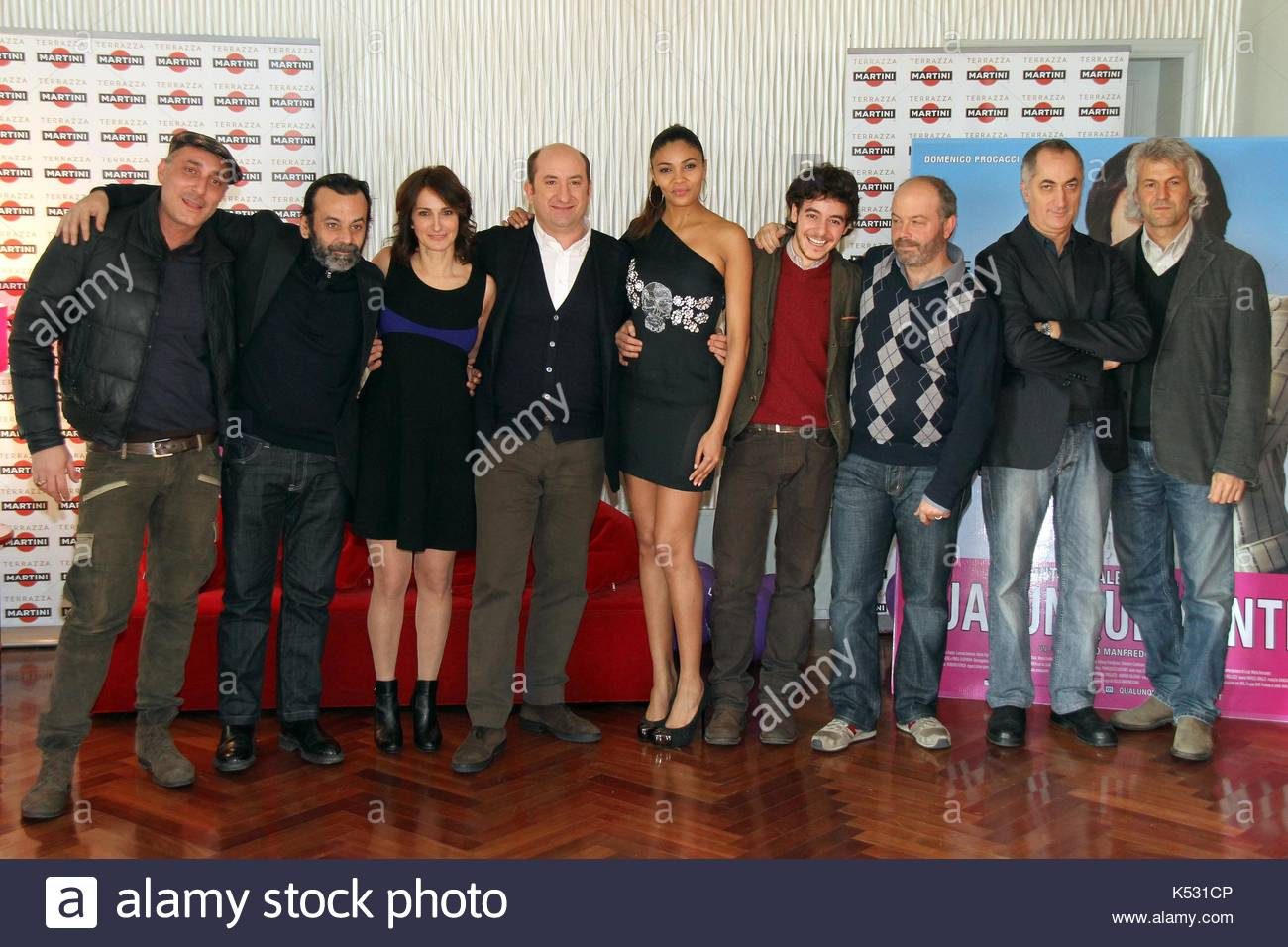 The cast. \